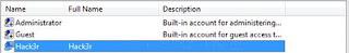 užívateľský účet s názvom Hack3r