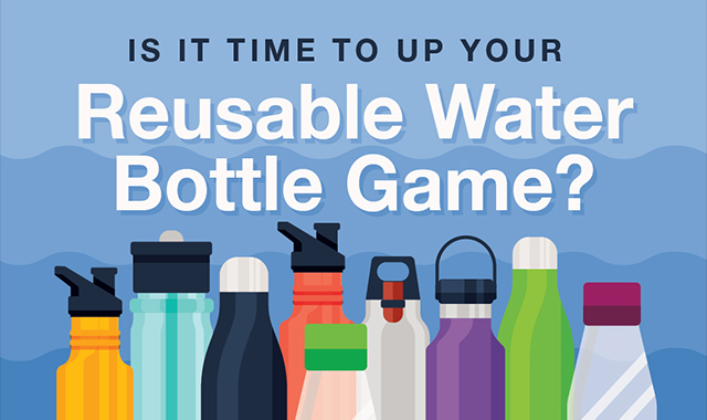 Is it time to up your reusable water bottle game? #infographic