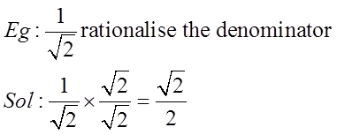 Rationalisation example