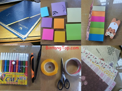 DIY Dashboard Planner & Mini Pocket untuk Buku & Agenda