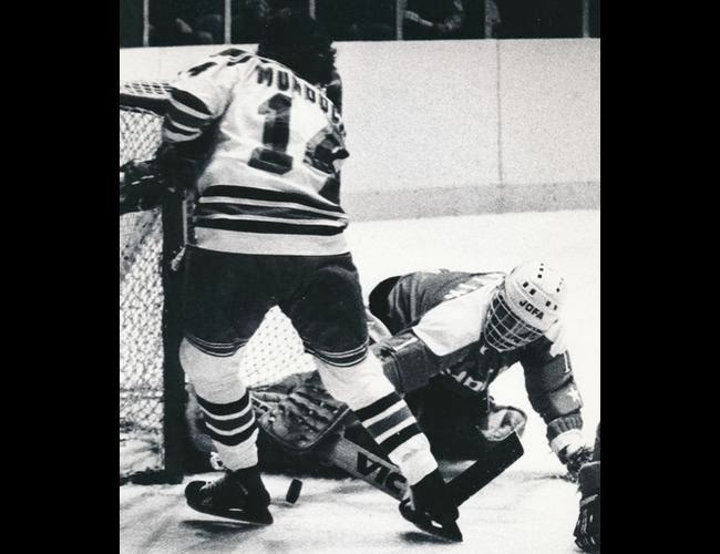 Vs. NY Rangers: Goalie Rollie Boutin and Don Murdoch (12/30/79)