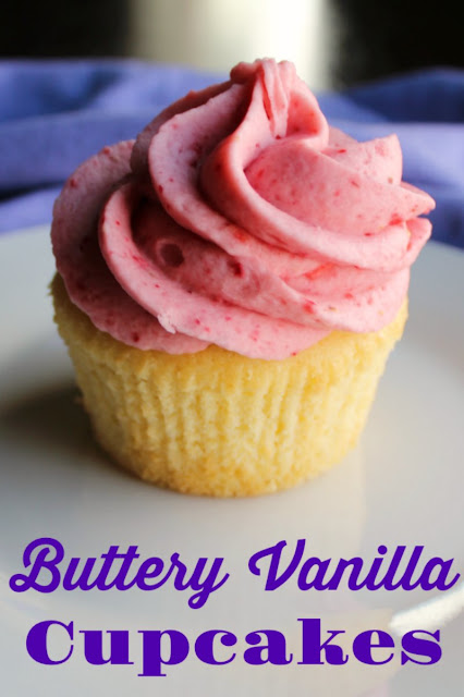 Buttery homemade vanilla cupcakes with a texture reminiscent of a pound cake are the perfect pair for your favorite frosting!