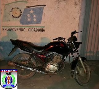 Mata Roma: Após realizar assalto a mão armada, roubar moto, assaltante é preso pela Polícia Militar
