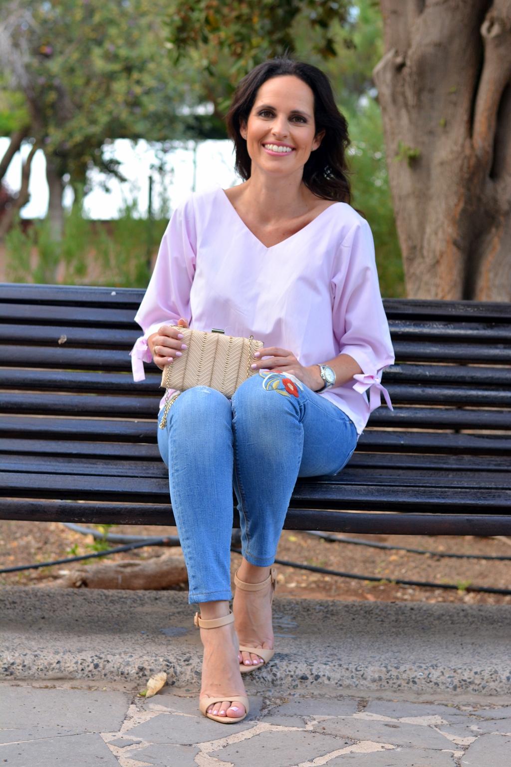 zara-jeans-romwe-blouse-pink