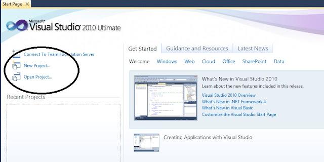 New Project Pada VB 2010