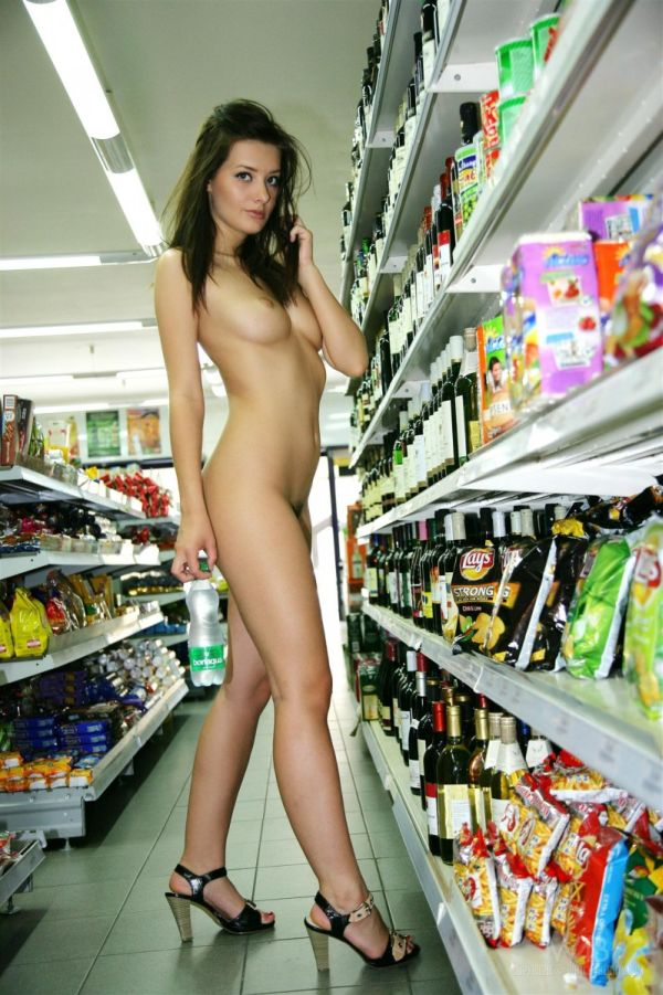 Share Nude girls at the store the