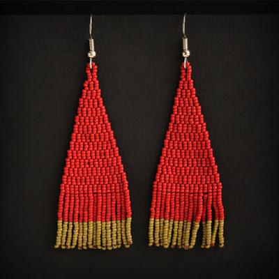 купить длинные темно красные серьги мелкие подарки купить