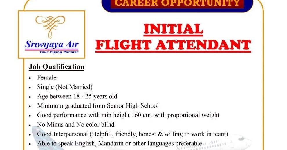 [Jakarta] Walk In Interview Initial Flight Attendant