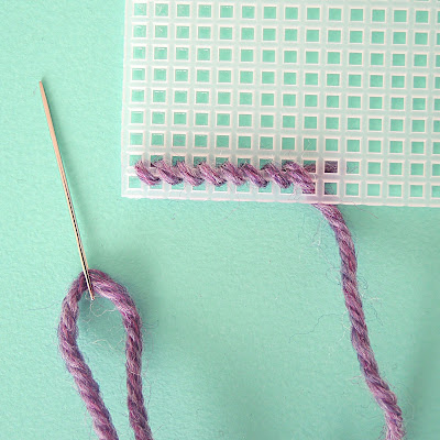 Plastic Canvas Tent Stitch in Wool
