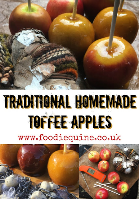 www.foodiequine.co.uk Perfect for Halloween and Bonfire Night these traditional homemade Toffee Apples will be perfect thanks to Thermapen