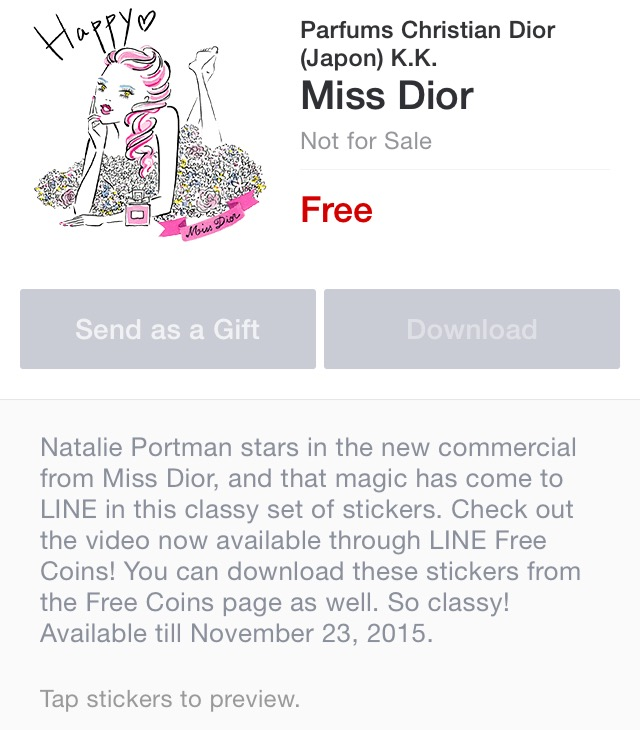 the best attitude 1aacf 344ef LINE Stickers Community: Free-Miss Dior sticker