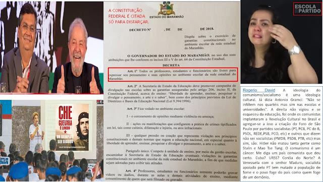 """Flávio Dino decreta o jeitinho de """"Doutrinar alunos"""" e o Depoimento chocante de uma mãe que relata a perda de sua filha para a ideologia insana do Comunismo através de uma professora doutrinadora"""