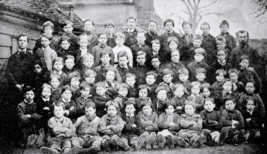 A photograph of Pupils of Welham Green Boys' School c1880