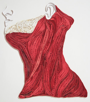 Anatomical Quilling by Sarah Yakawonis