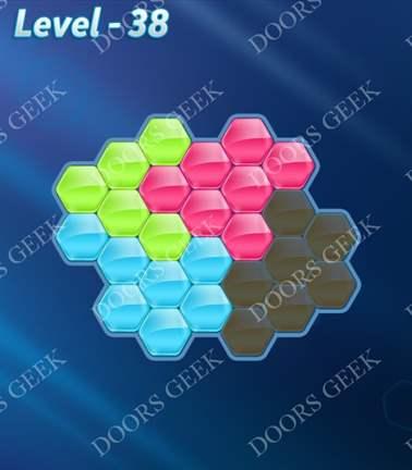 Block! Hexa Puzzle [Rainbow A] Level 38 Solution, Cheats, Walkthrough for android, iphone, ipad, ipod