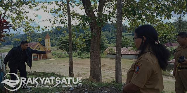 Reses, Kristian Lambe Tinjau Pembangunan Taman Baca di Tarongko