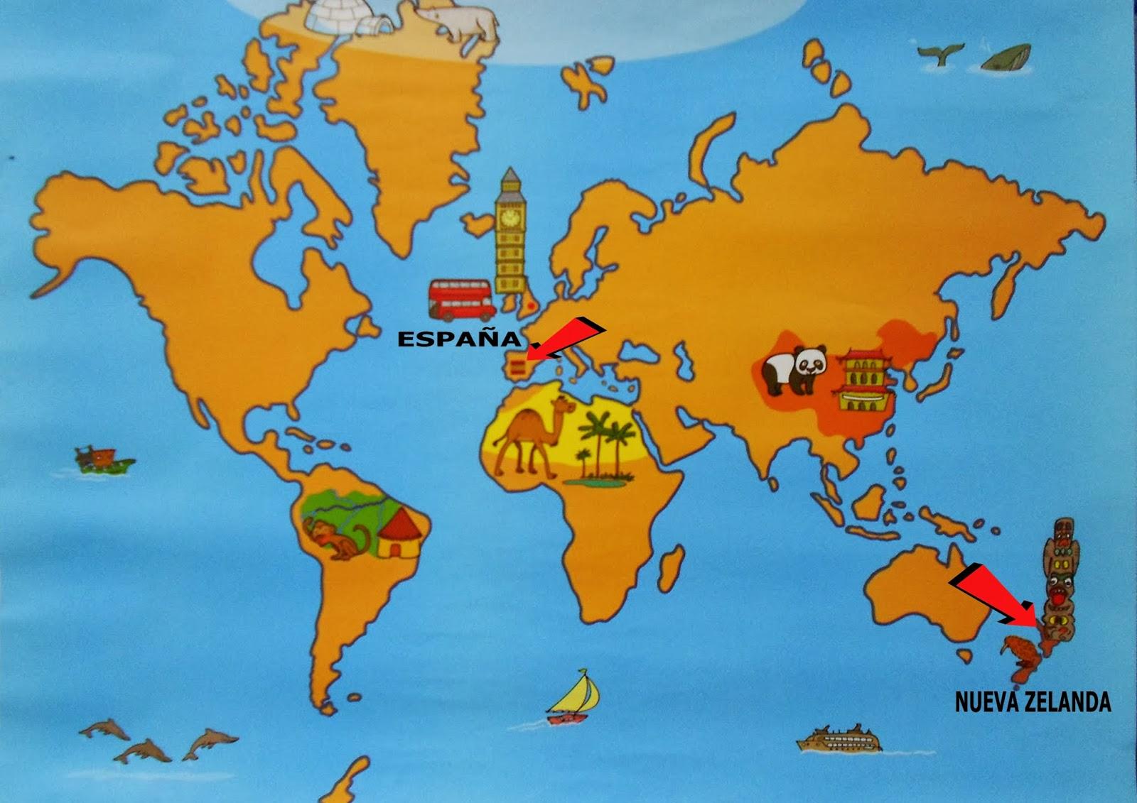 Donde Esta Nueva Zelanda Mapa Mundi.Peces De Colores Proyecto Nueva Zelanda