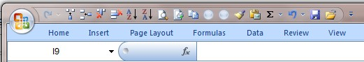 Excel Menu Bar