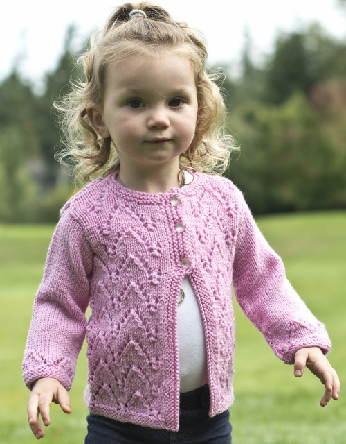 Arches Baby Cardigan - Free Pattern