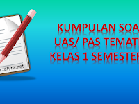 Download Soal UAS Tematik Kelas 1 Semester 1 Kurikulum 2013
