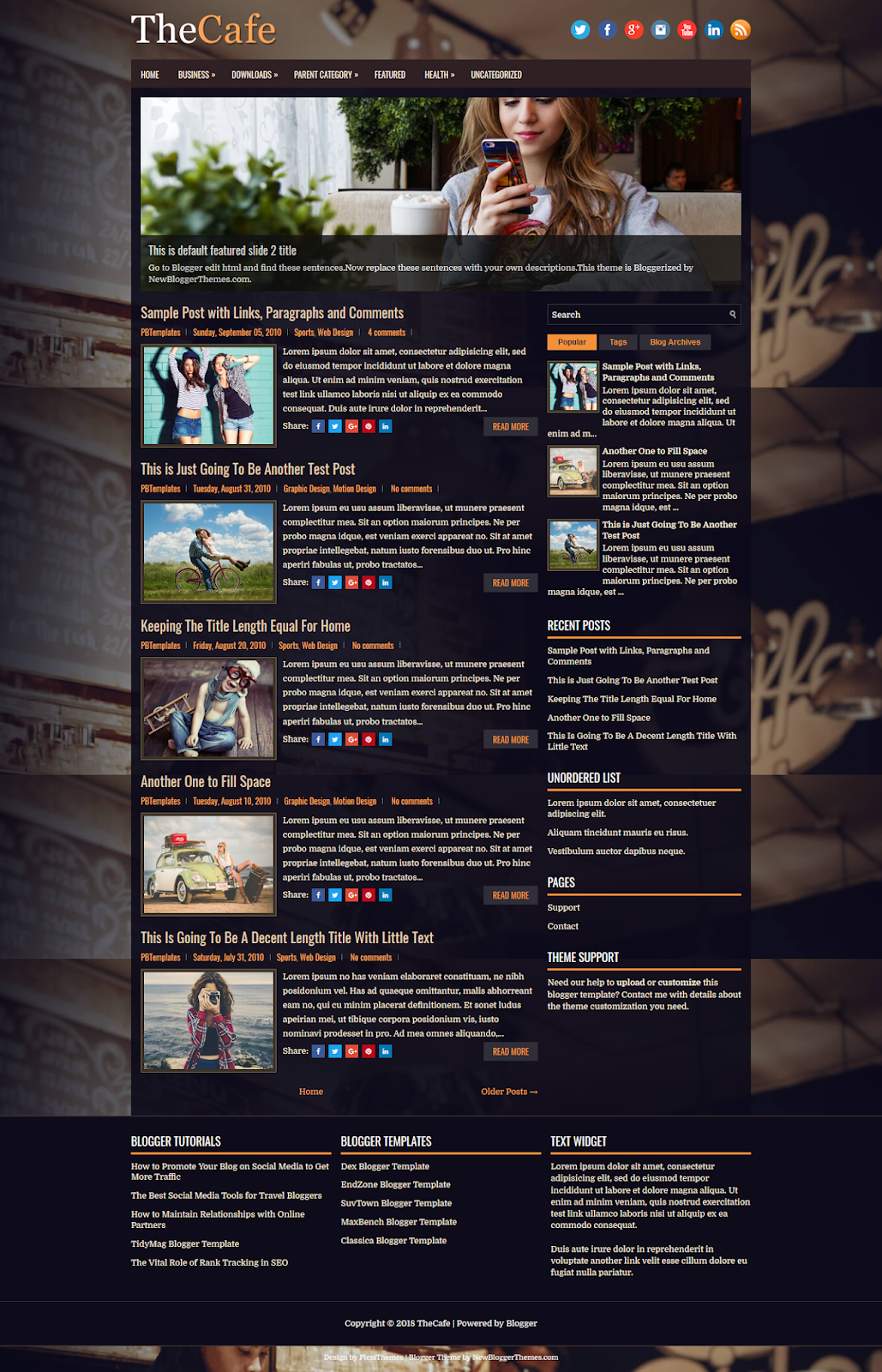 TheCafe Blogger Template