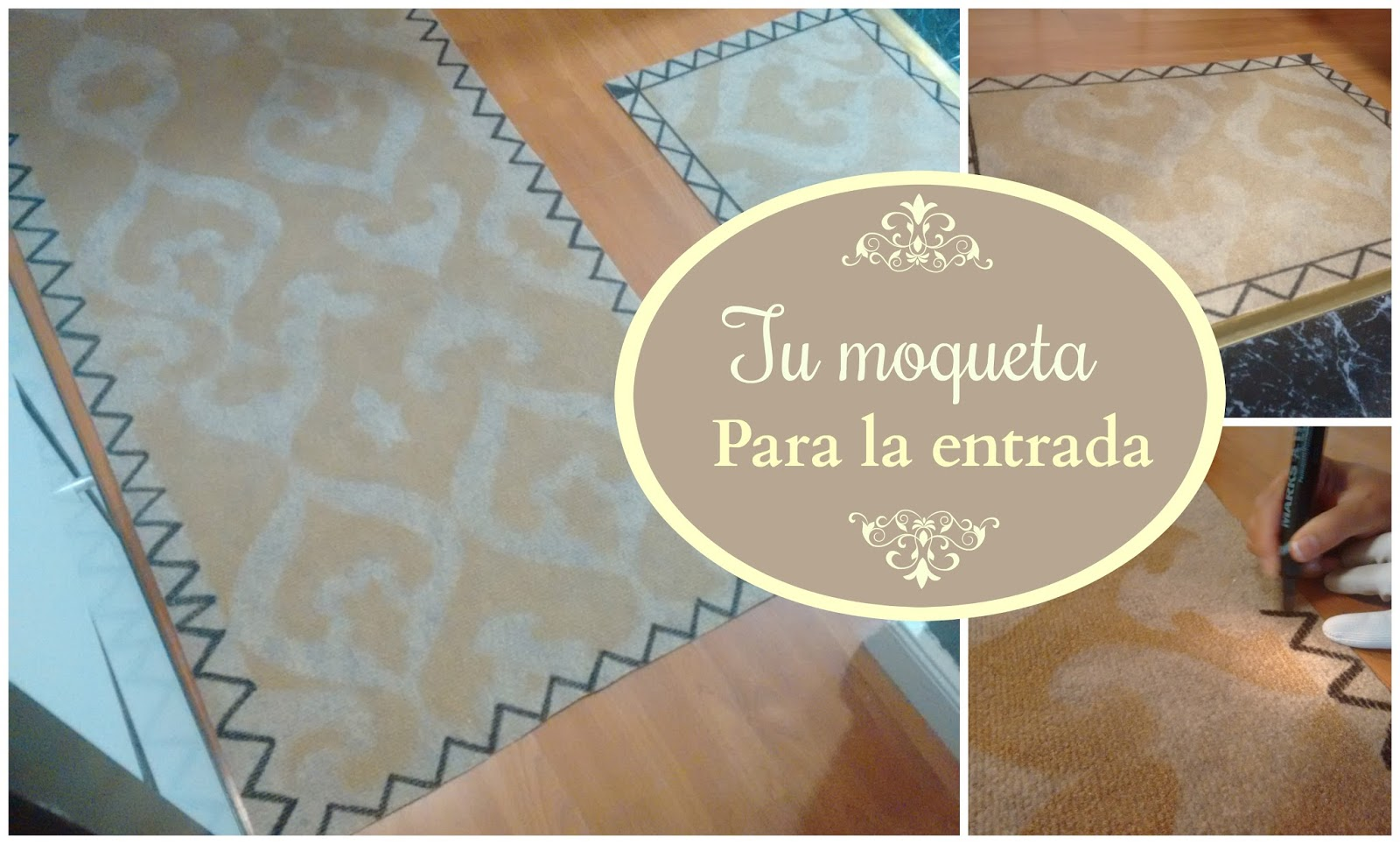 La abejita cosedora alfombra diy - Como poner moqueta ...