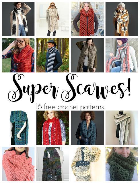 Fiber Flux Super Scarves 16 Fabulous And Free Crochet Patterns
