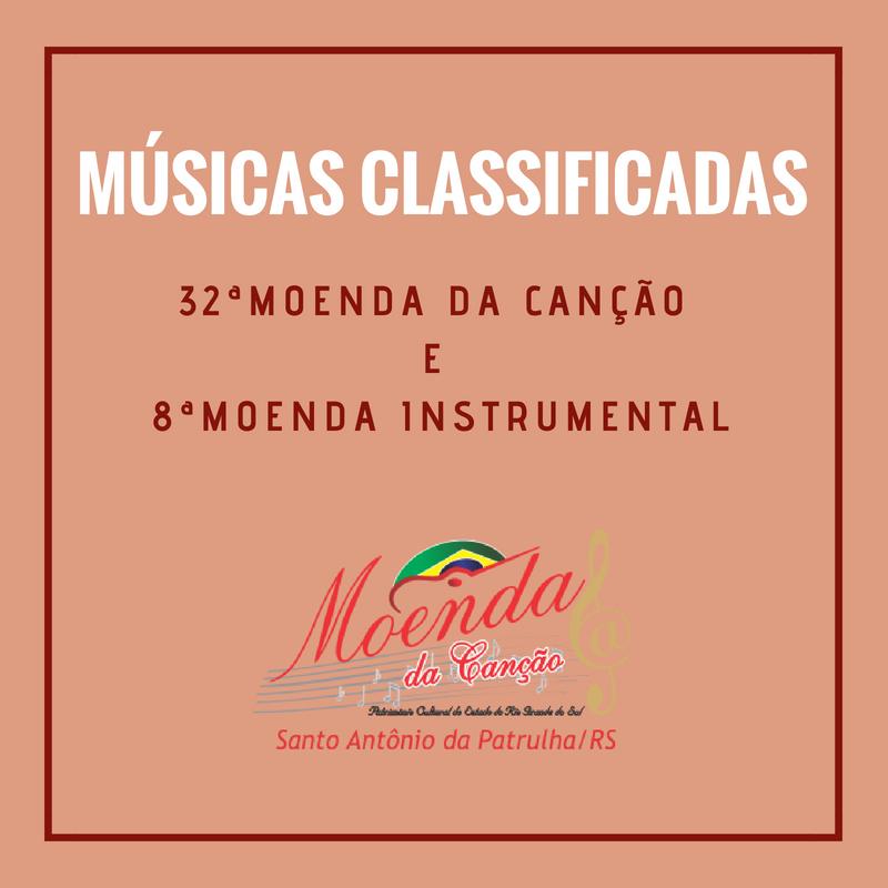 Conhecidas as músicas que estarão no palco da 32ª Moenda da Canção e 8ª Moenda Instrumental
