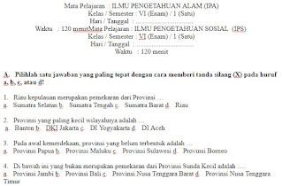 Soal-UAS-IPS-kelas-6-SD-Semester-1