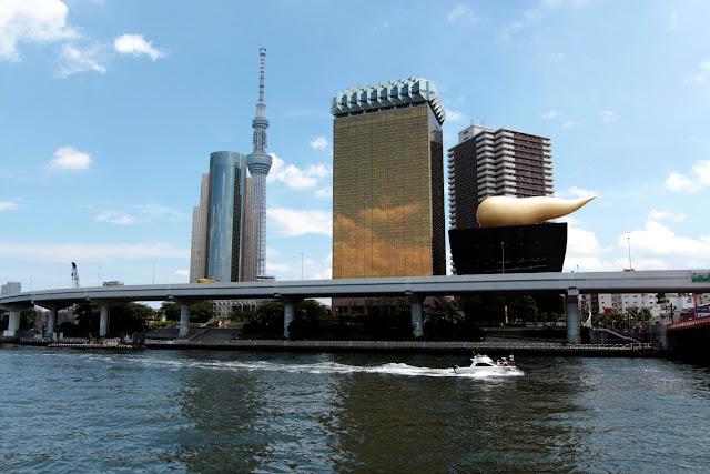 Panorámica con el edificio Asahi y la Tokyo Skytree