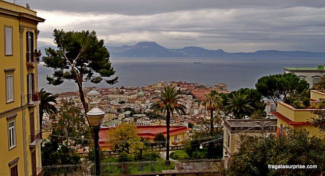 Nápoles vista do morro do Vomero
