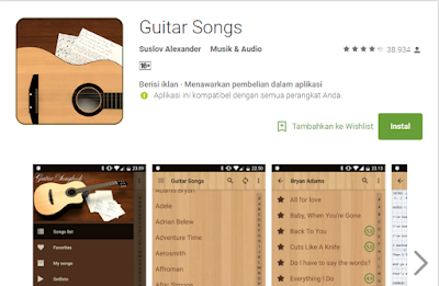 10 Aplikasi Chord Gitar Terlengkap
