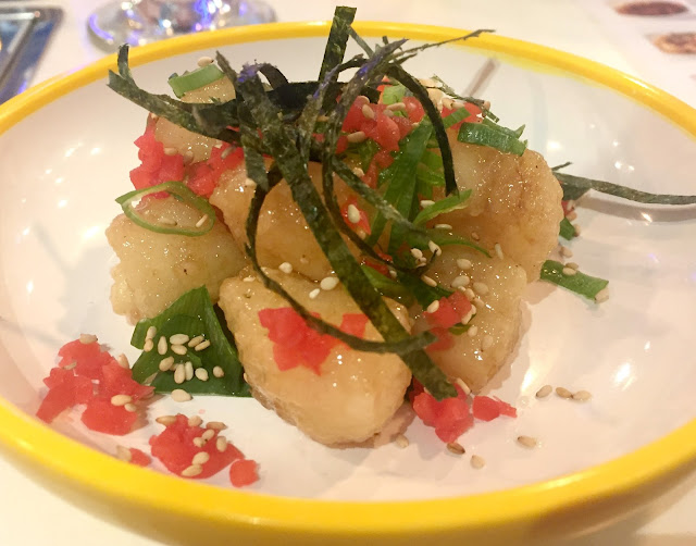 Yo Sushi Sweet and sour cod dish