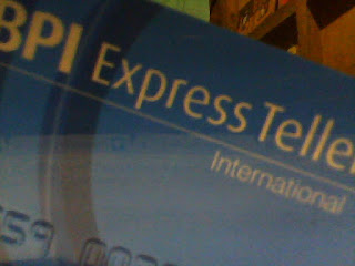 BPI Express Teller Card Used for paypal