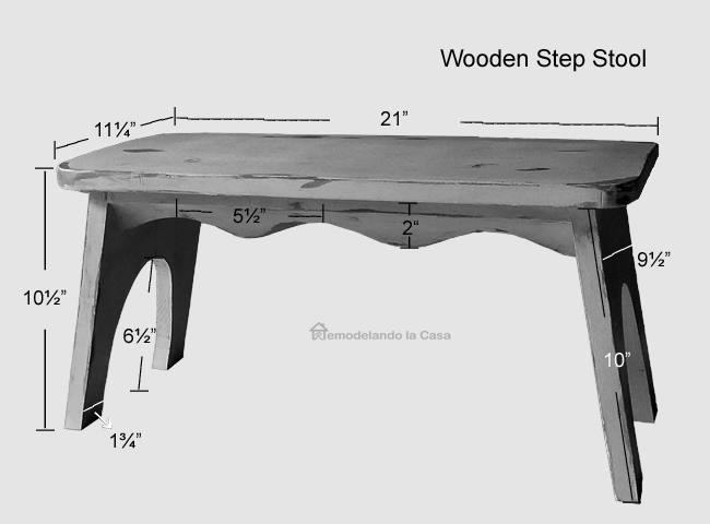 how to build a step stool - painting it to look old & Remodelando la Casa: DIY - Wooden Step Stool - Vintage Look islam-shia.org