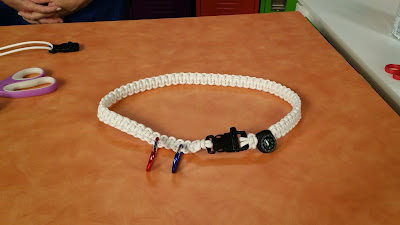 Finished Glow Paracord superhero belt by Hands On Crafts for Kids.