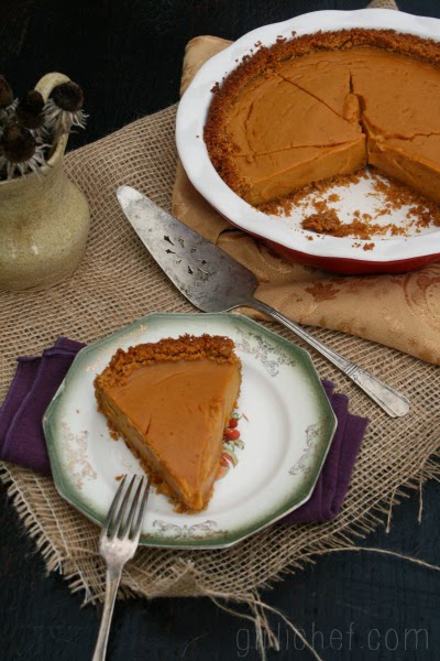 Coconut Sweet Potato Pie w/ Spiced Graham Cracker Crust | www.girlichef.com