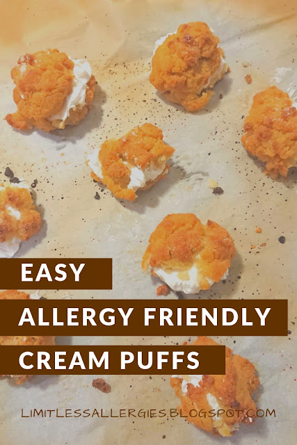 pin image for Easy Allergy Friendly Cream Puffs