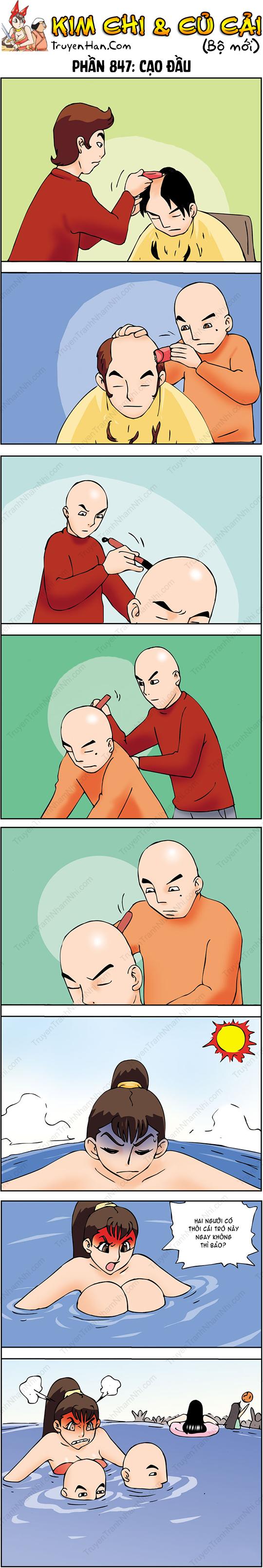 Kim Chi Và Củ Cải Phần 847: Cạo đầu