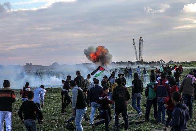 Gaza Ditinggalkan Warganya untuk Unjuk Rasa Tolak Israel