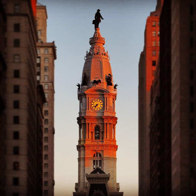 Philadelphia City Hall in winter