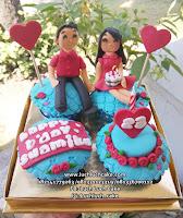 Cupcake Couple Romantis Anniversary - Birthday