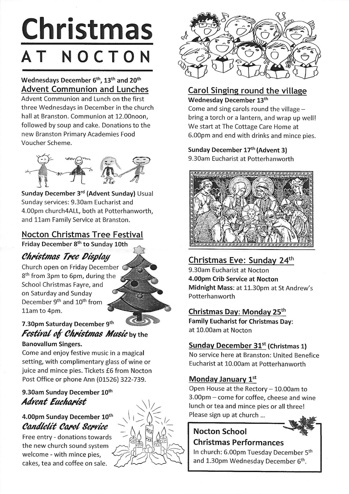 Nocton in Lincolnshire: All Saints Church - Xmas at Nocton