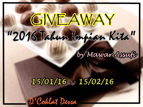 Giveaway 2016 TAHUN IMPIAN KITA by Mawar Assufi
