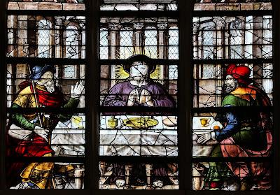 Imagem de Jesus e os discípulos de Emaús, vitral, #2