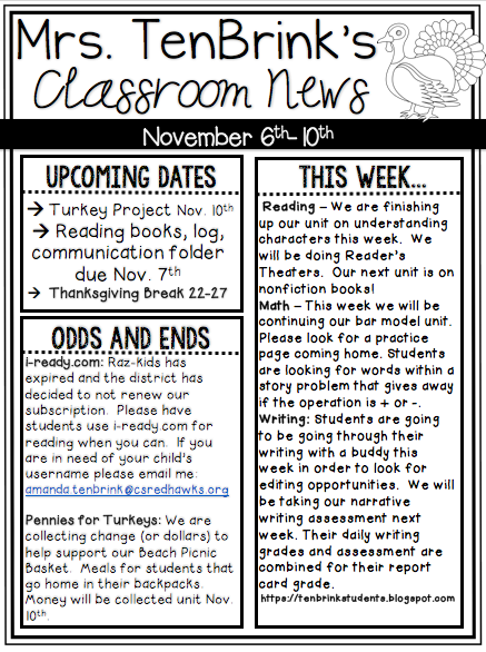 Week 10 Newsletter
