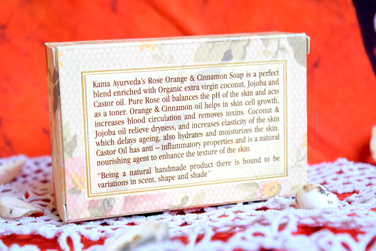 Kama Ayurveda Rose,Cinnamon & Orange Soap