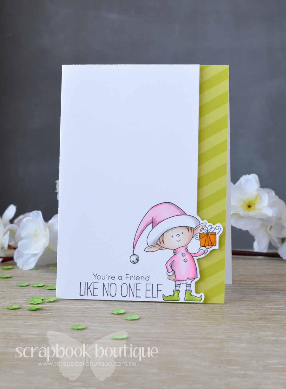 Scrapbook Boutique Using One Stamp Set To Create 6 Different