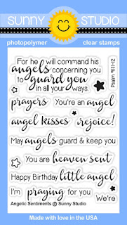 Sunny Studio Stamps: Introducing Angelic Sentiments 3x4 Stamp Set