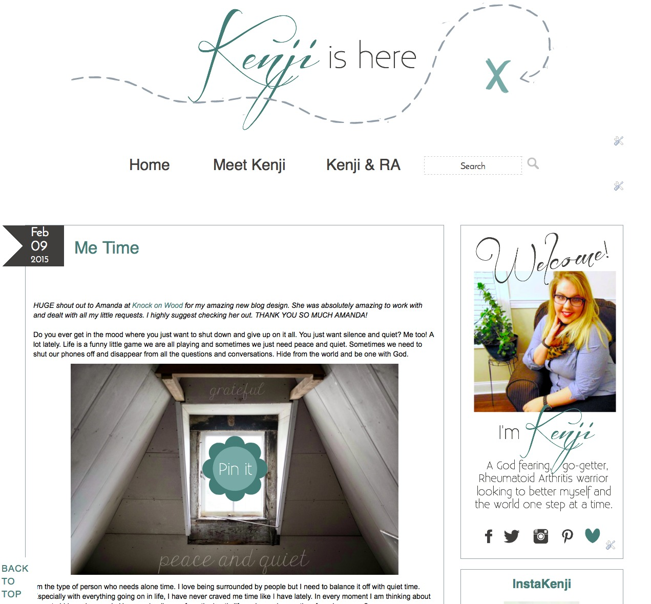 Kenji is Here - Blog Design by Amanda Wood Designs